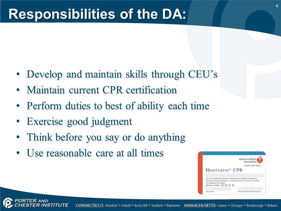 4 4 responsibilities - Dentist Duties And Responsibilities
