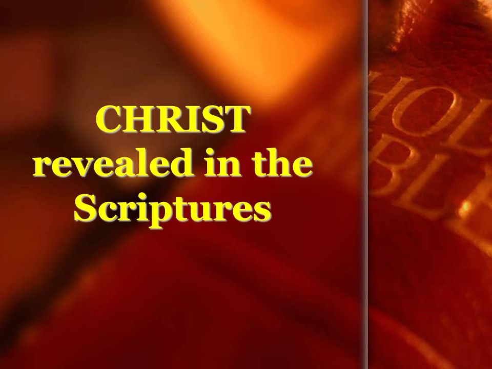 CHRIST revealed in the Scriptures