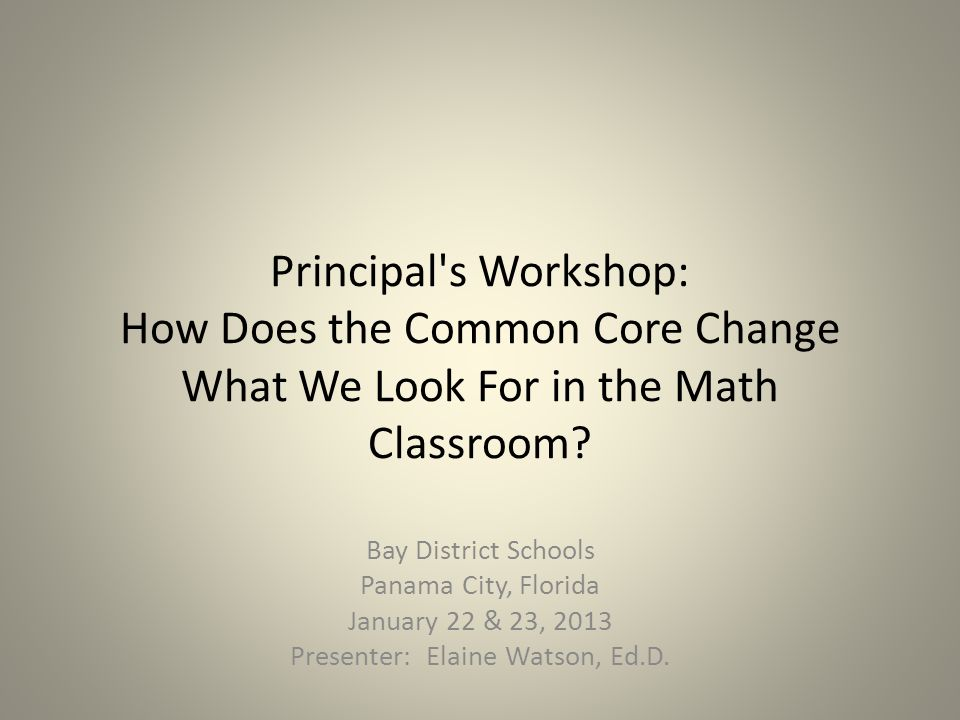 Bay District Schools Panama City, Florida January 22 & 23,