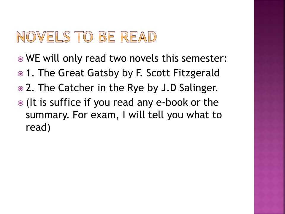 the similarities between the great gatsby by f scott fitzgerald and the catcher in the rye by j d sa