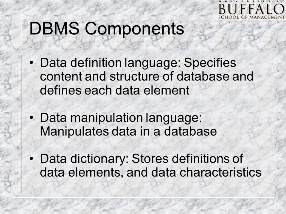 dbms languages Object oriented databases are designed to work well with object oriented programming languages such as python, java, objective-c.
