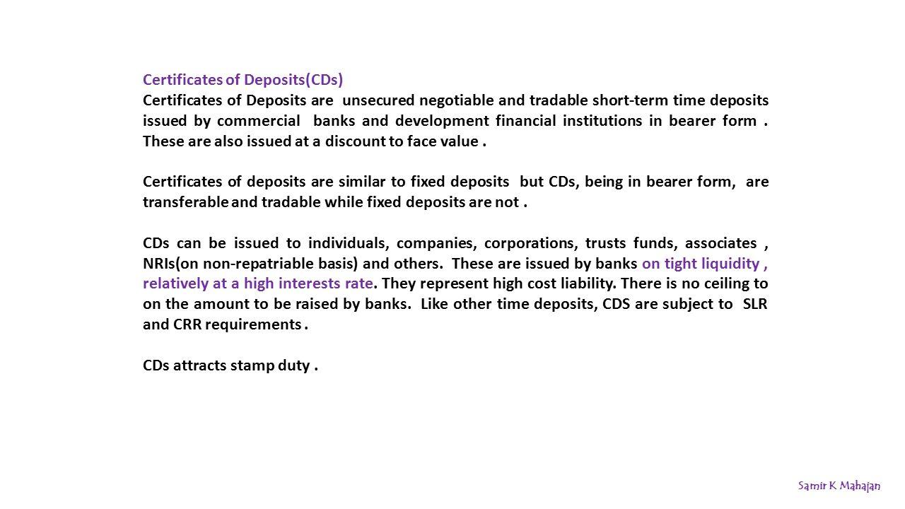 Samir K Mahajan Financial Market in India. Financial Market ...