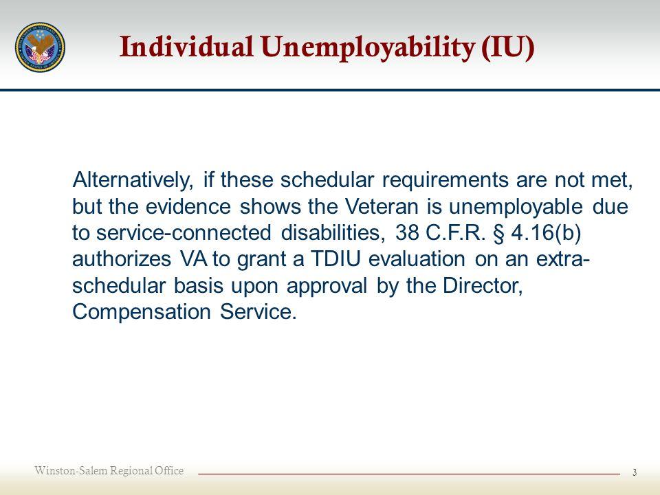 Winston-Salem Regional Office 1 IU, SMC Ratings, Secondary S/C ...