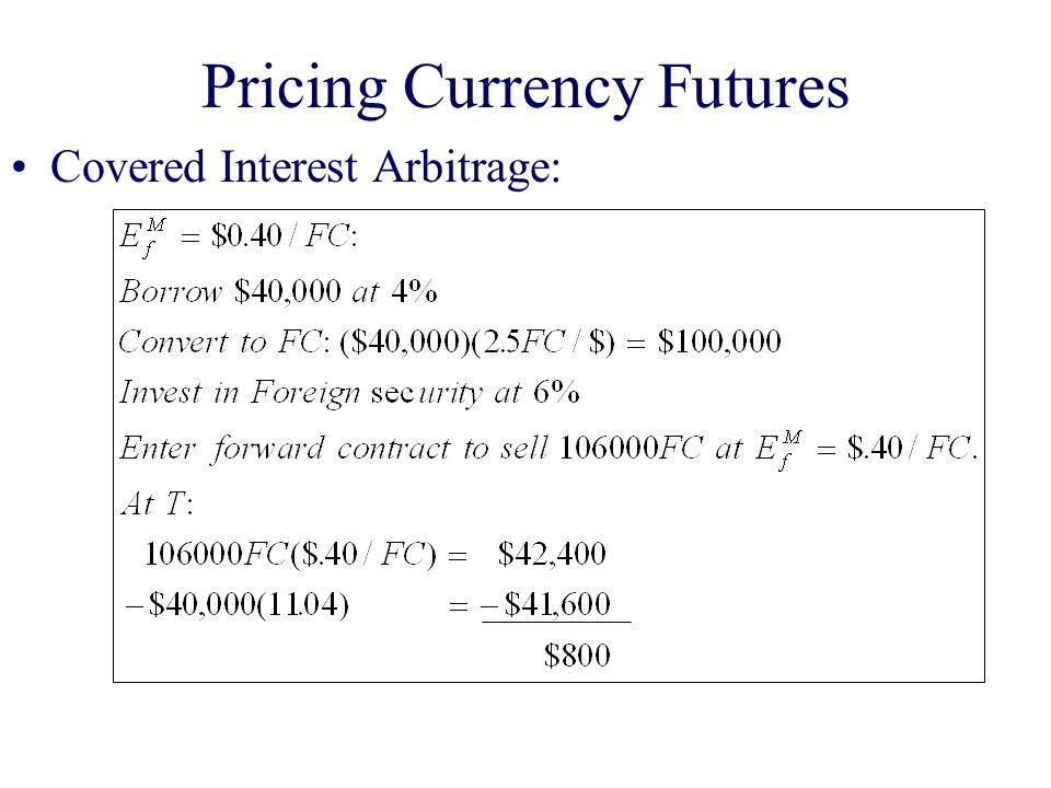 Covered Interest Arbitrage: