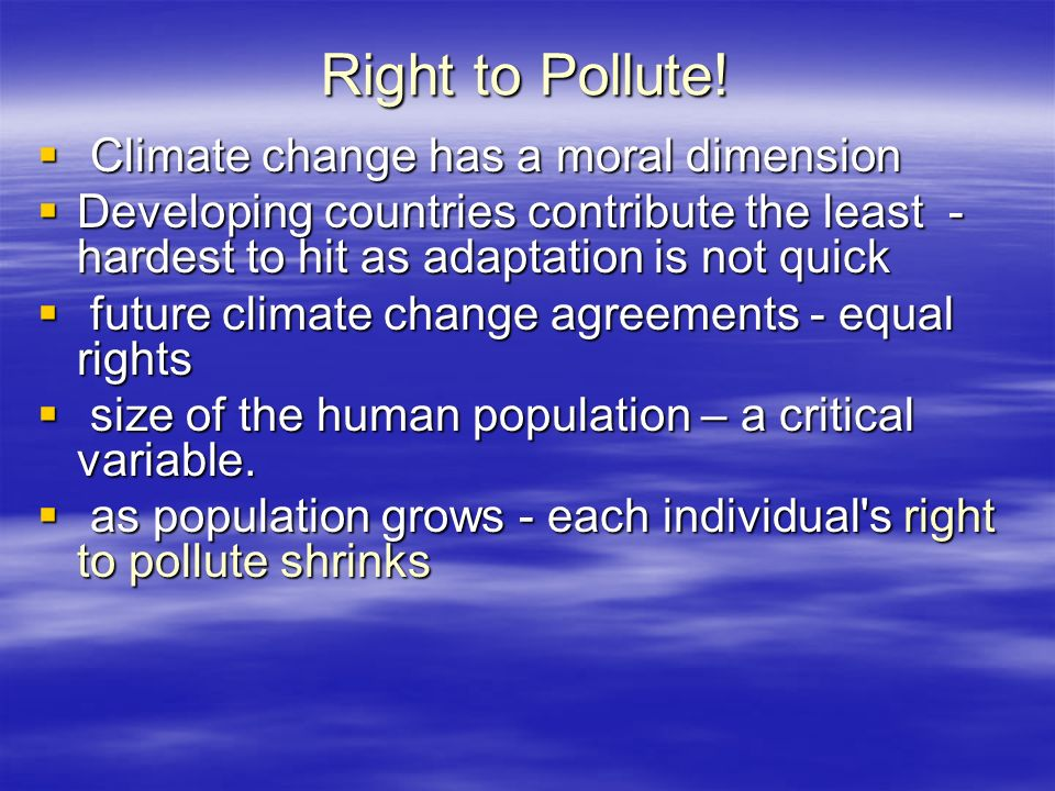 Right to Pollute.