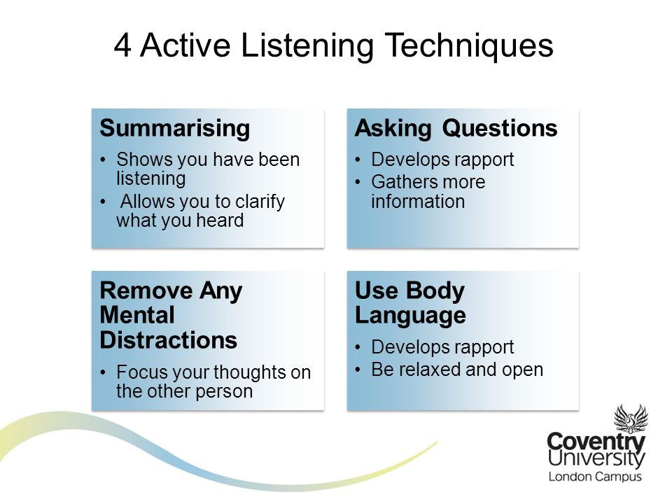 Research paper on active listening techniques