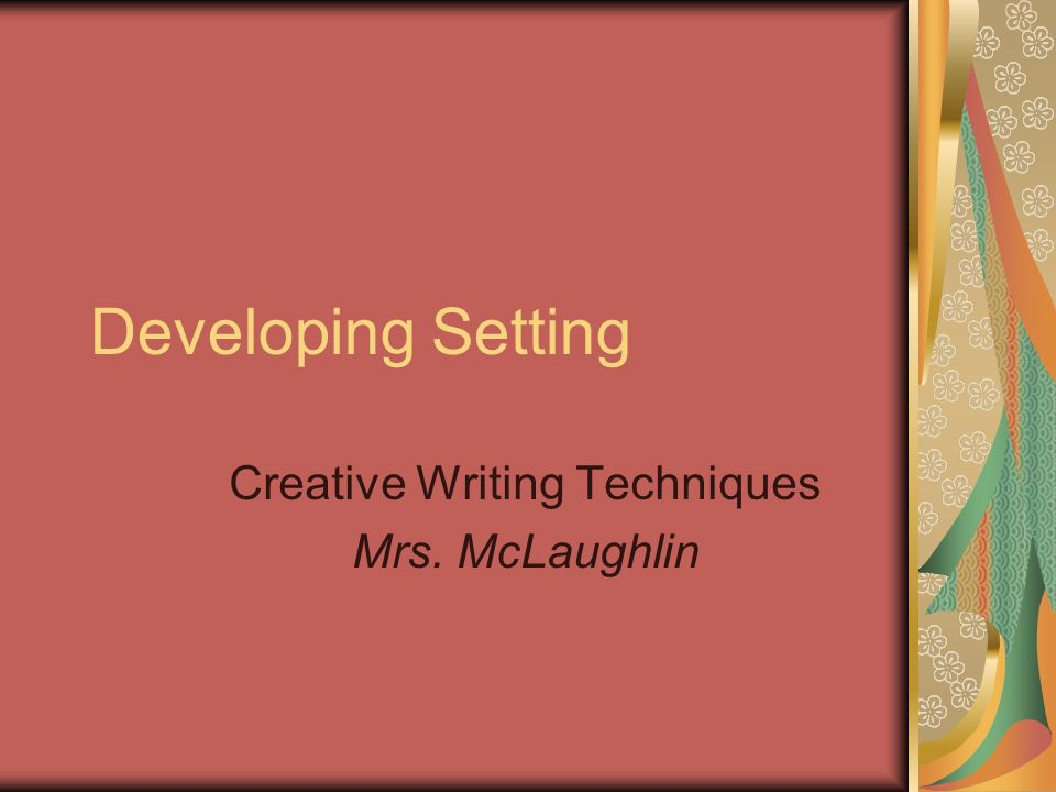 Techniques for creative writing