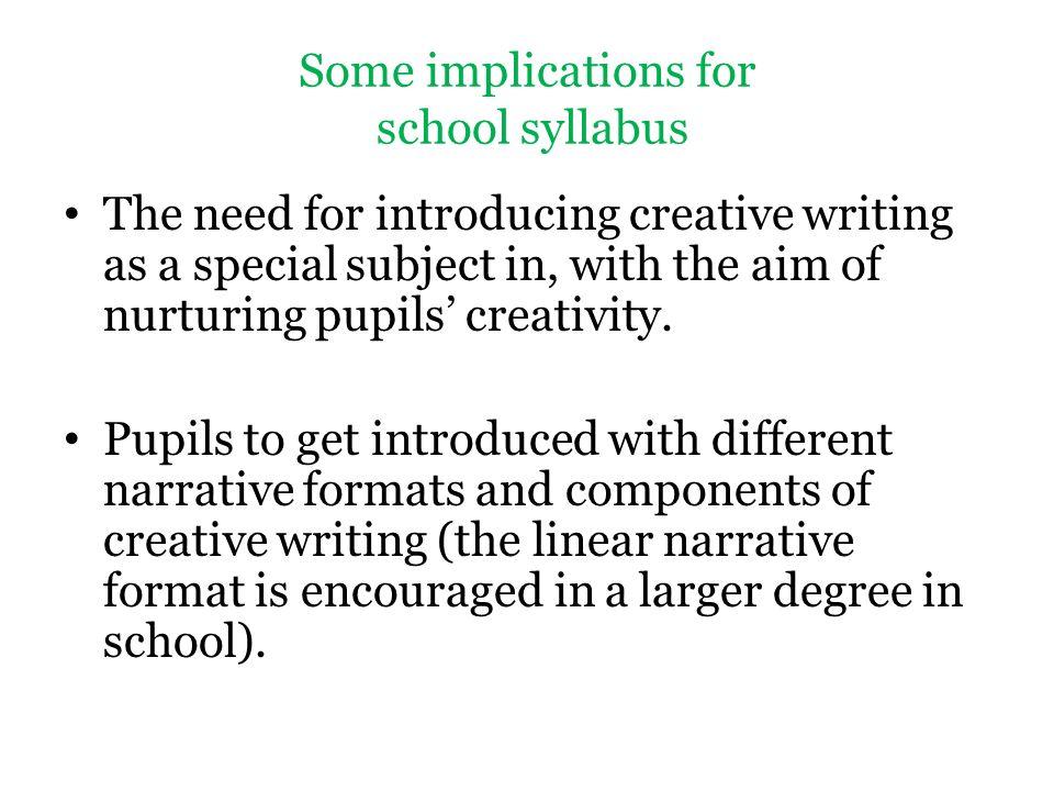 introduction to creative writing syllabus Syllabus september 1, 2008 at 6:53 pm (uncategorized) introduction to creative writing 351-211, section 13 instructor: joanna fuhrman email: jofuhrman@gmailcom.