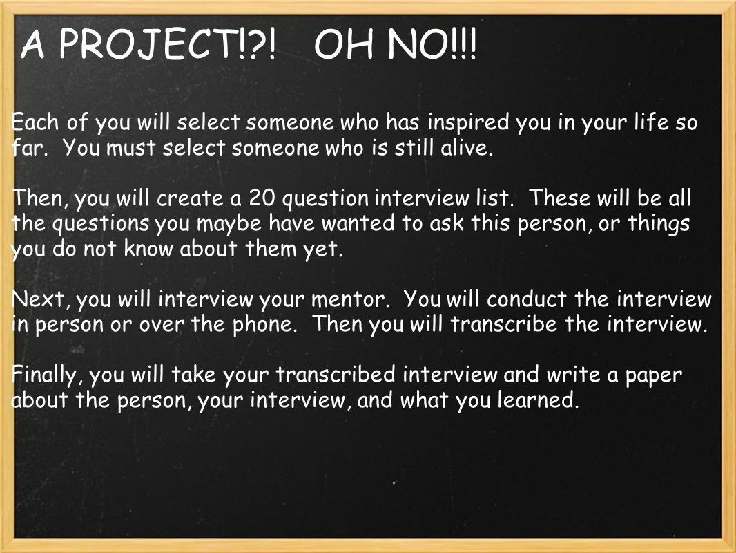 Exceptional 5 A PROJECT!?!