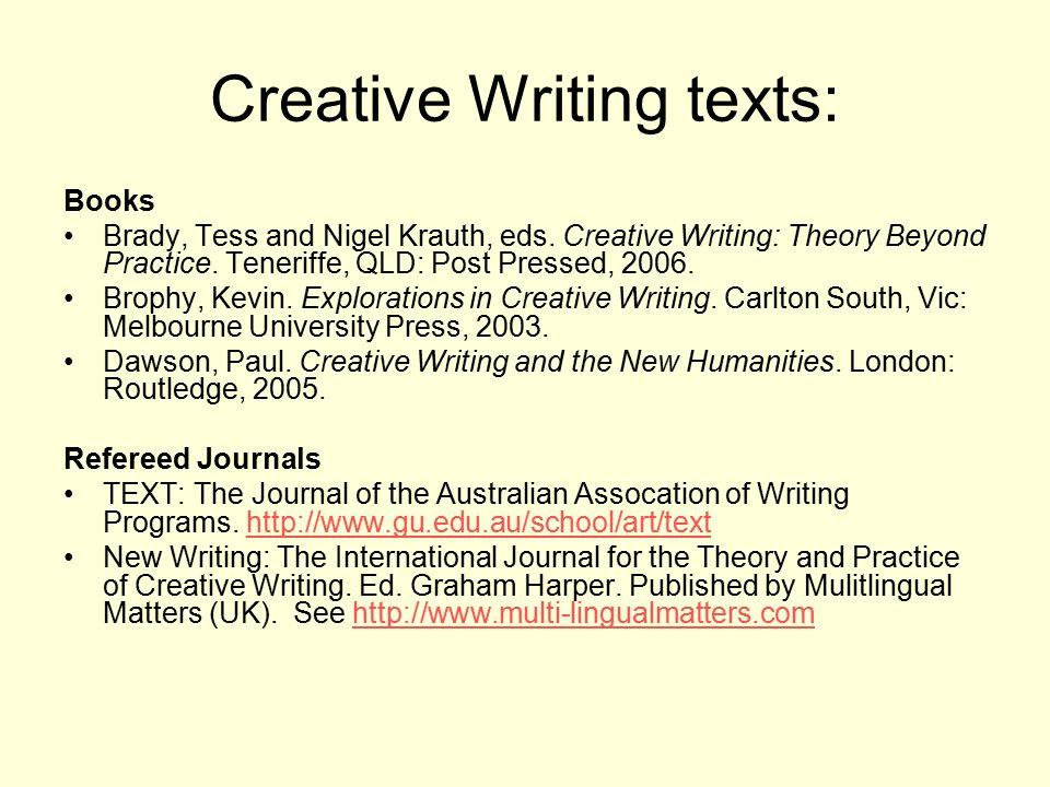 Creative writing texts
