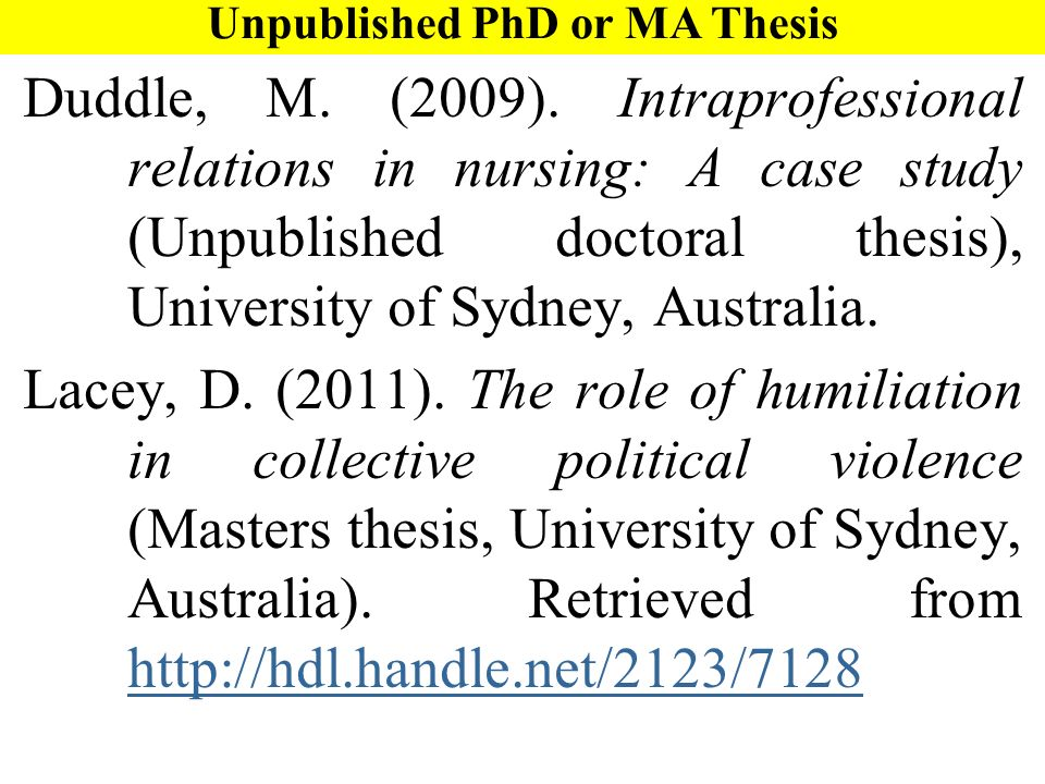 Apa style doctoral dissertation