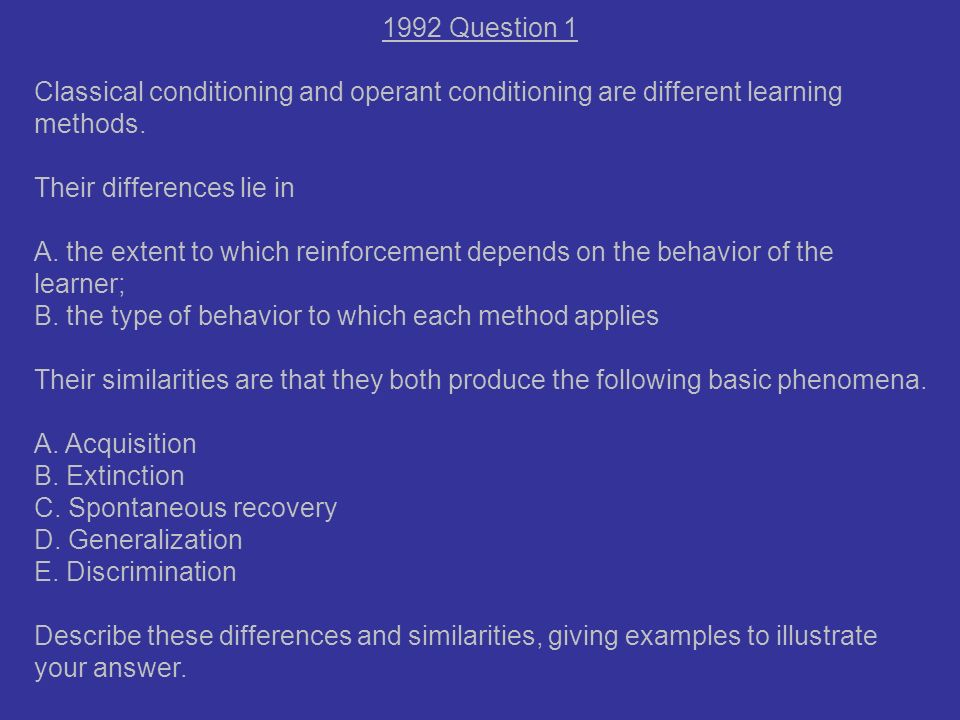 Classical Conditioning Essay