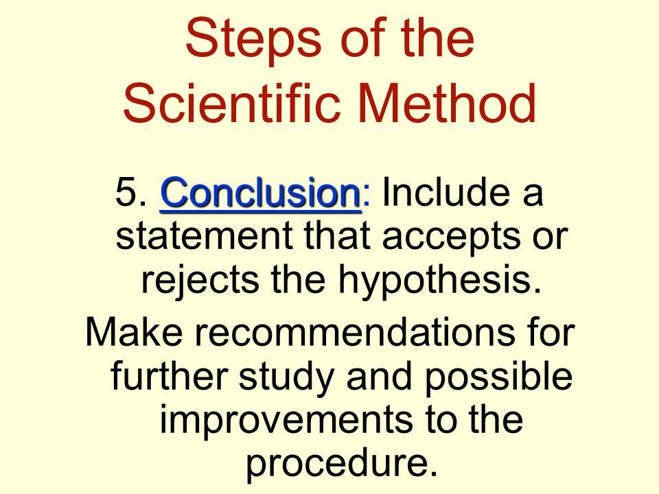 10 steps in the Scientific Method?