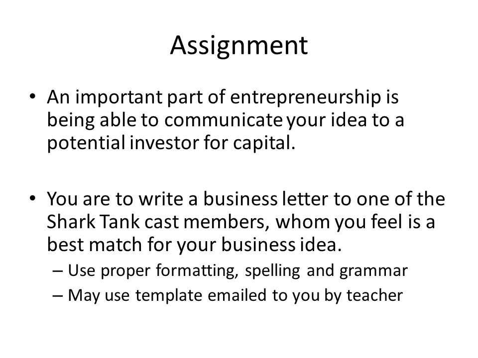 Letter of Assignment  How to Write a Letter