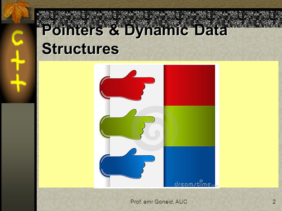 Prof. amr Goneid, AUC2 Pointers & Dynamic Data Structures