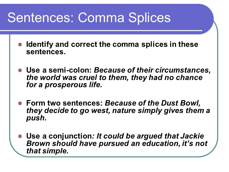 Where do I place commas in these sentences?