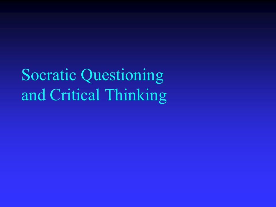 Essay On Critical Thinking