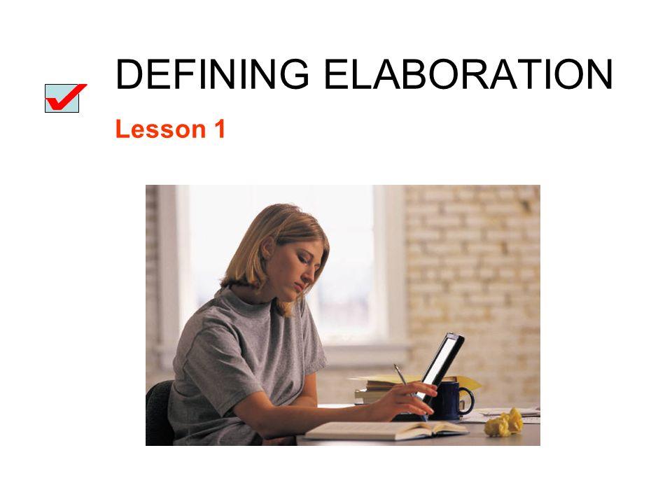 elaboration for essays