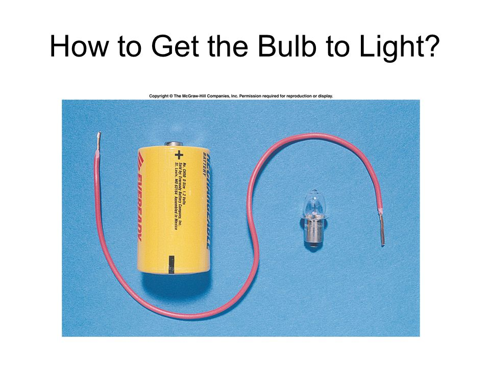 How to Get the Bulb to Light