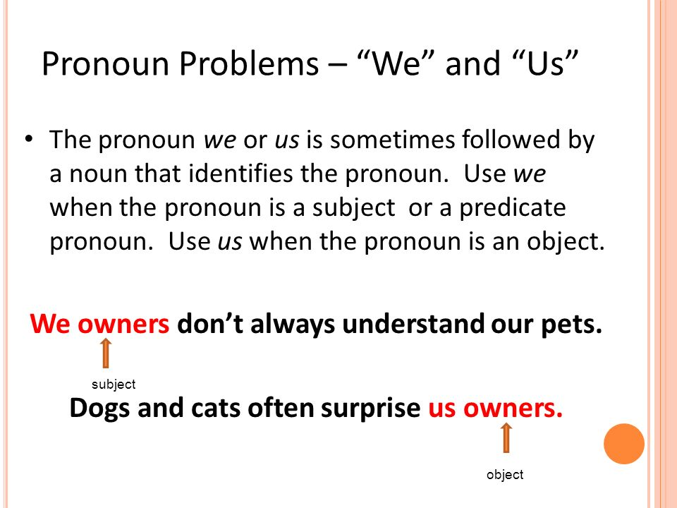 Can personal pronouns (I, we, us etc) be used in a scientific report?