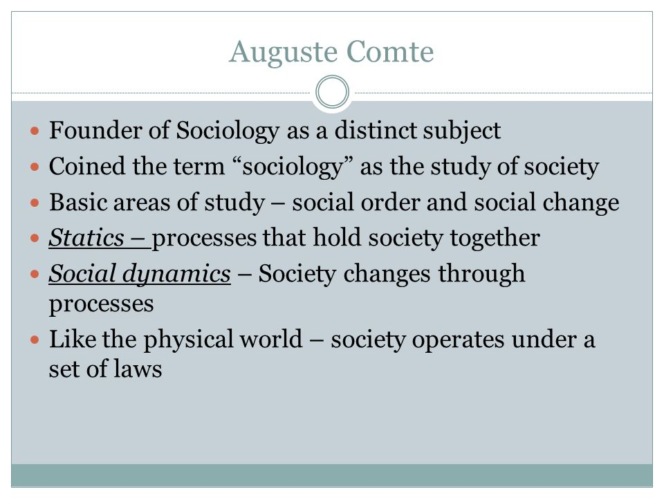 Term of sociology
