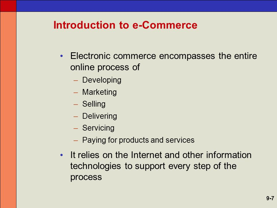 The Scope of e-Commerce 9-8
