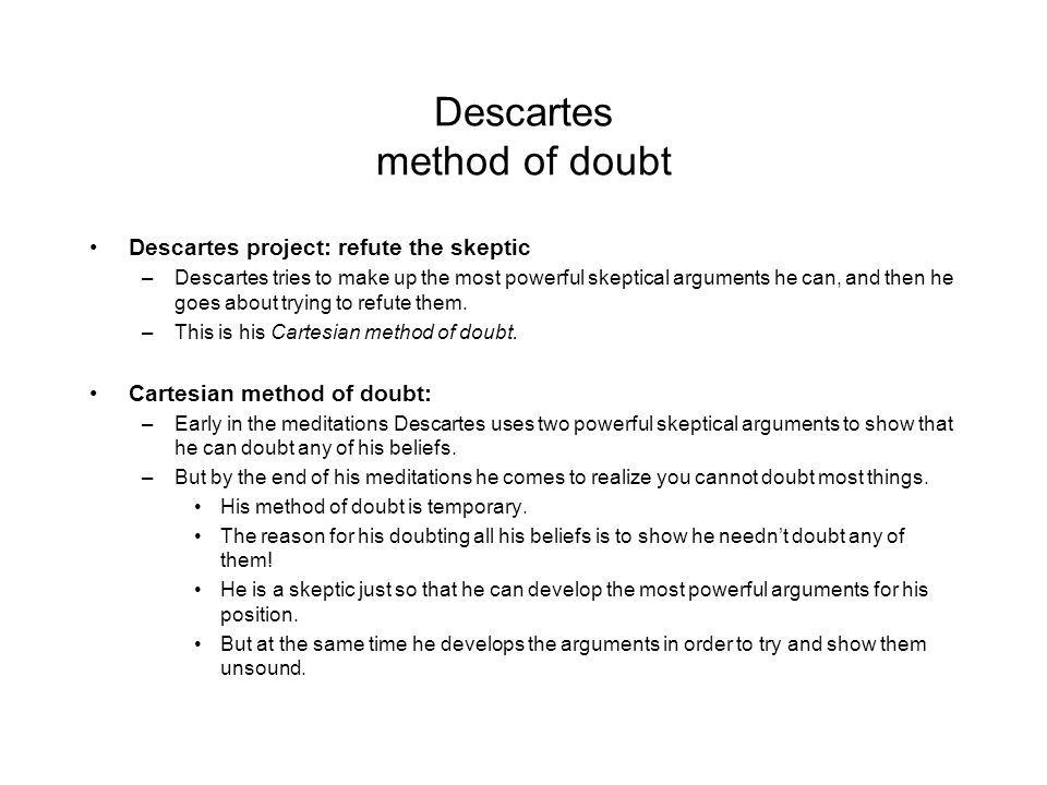 descartes meditation paper Descartes sixth meditation essaysin his sixth meditation must return to the doubts he raised in his first meditation in this last section of his sixth meditation he deals mainly with the mind-body problem and he tries to prove.