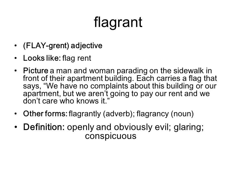 3 Flagrant ...