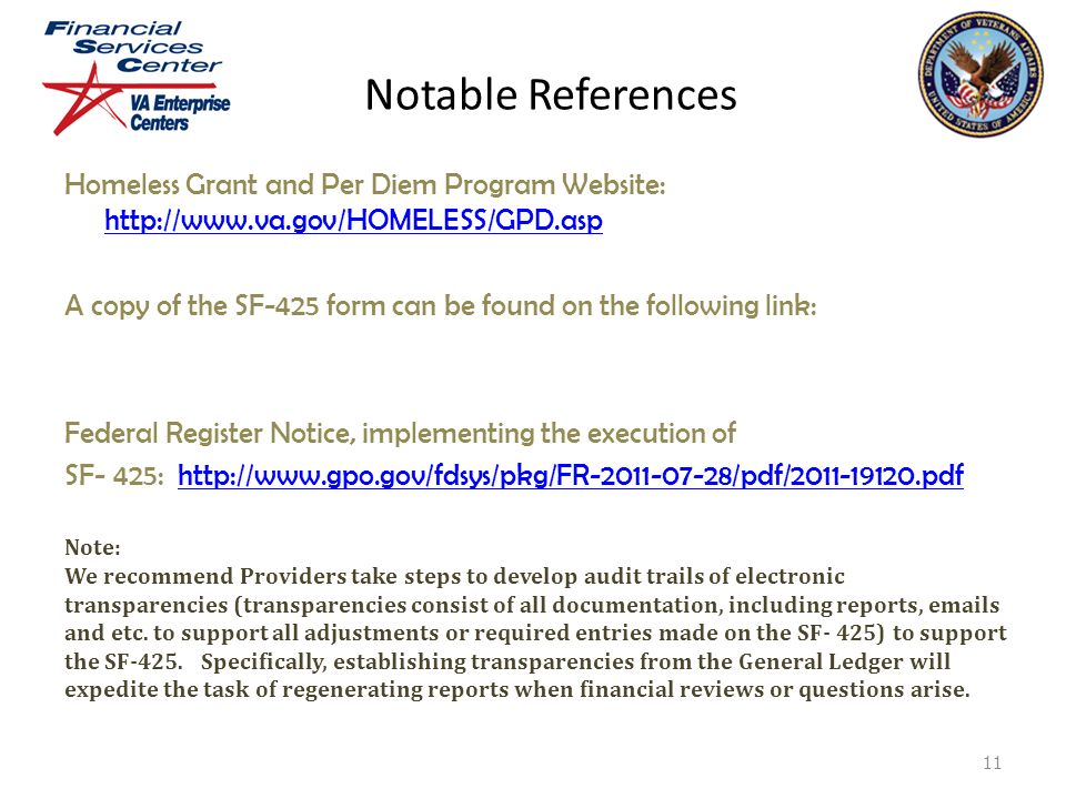 """Reporting on the Federal Financial Report """"SF-425"""" Presented by ..."""