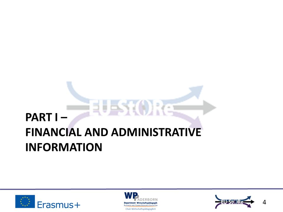PART I – FINANCIAL AND ADMINISTRATIVE INFORMATION 4