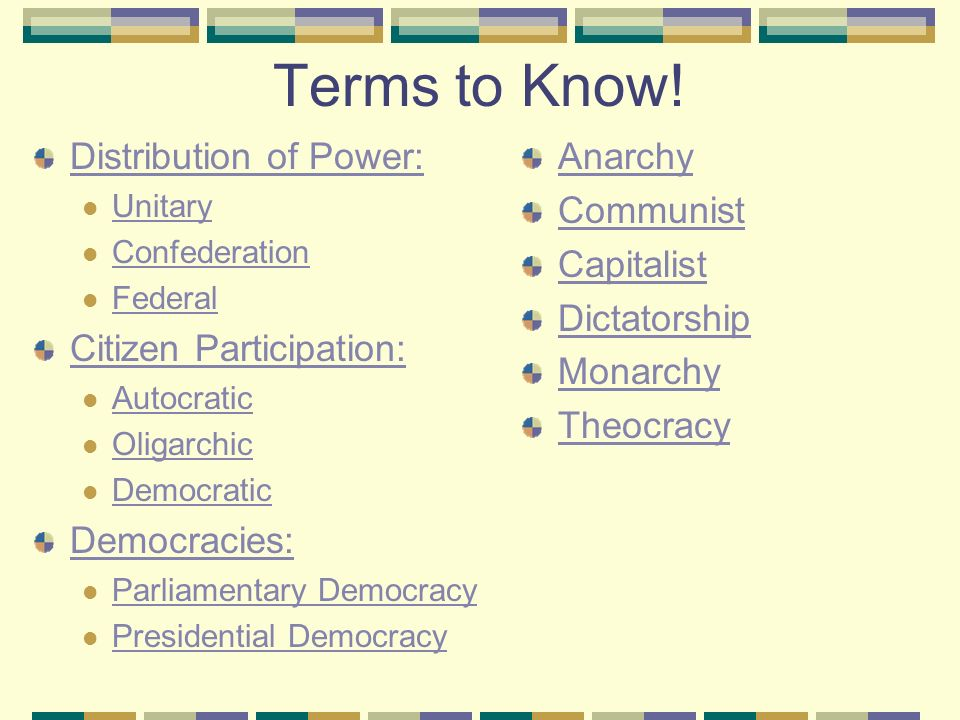 Worksheet Participation In Government Worksheets types of government 7 th grade social studies cantrell ppt download distribution power unitary confederation federal citizen participation autocratic oligarchic