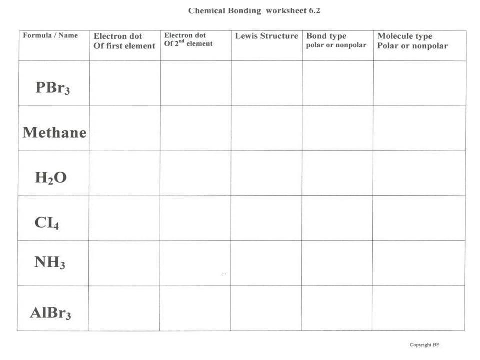 Chemical Bonding Worksheet | Homeschooldressage.com