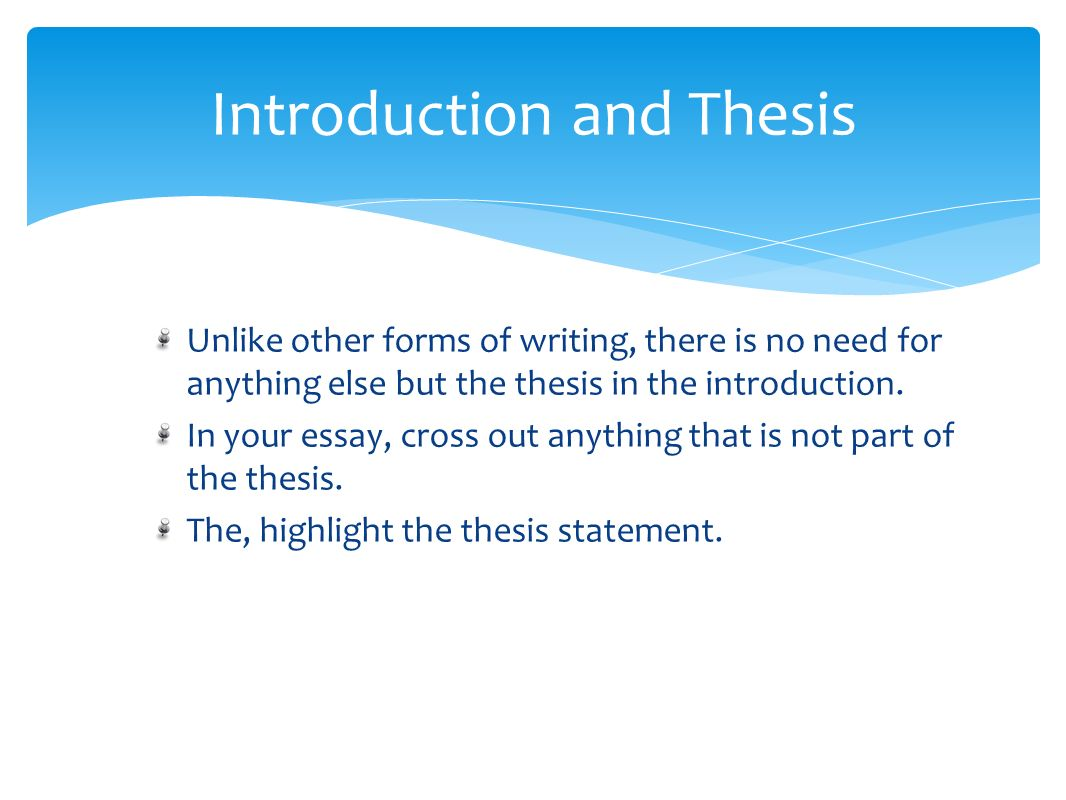 introduction and thesis writing This handout describes what a thesis statement is, how thesis statements work in your writing, and how you can discover or refine one for your draft.