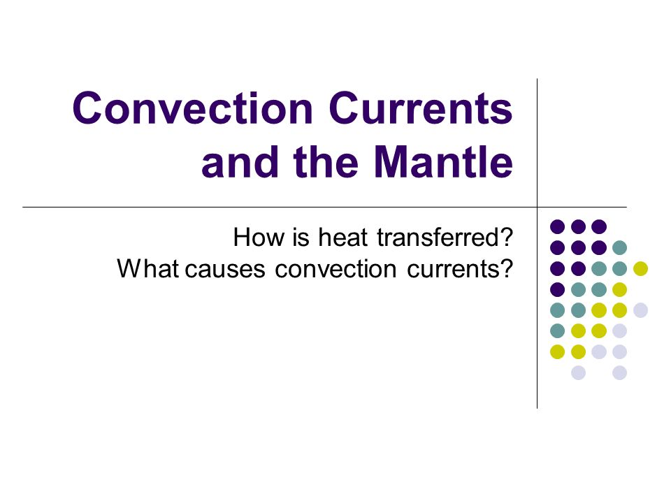 Convection Currents and the Mantle How is heat transferred What – Convection Currents Worksheet