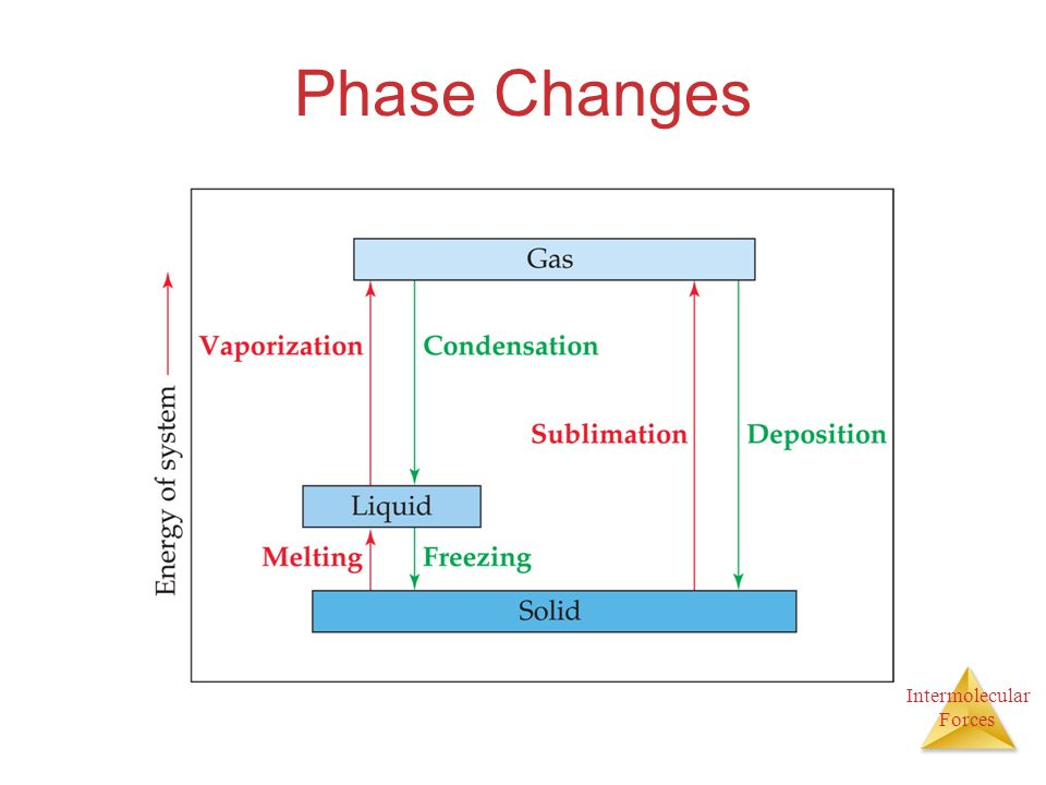 Intermolecular Forces Phase Changes