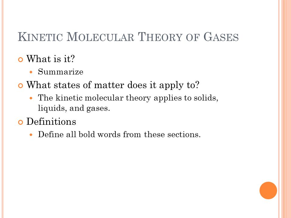 the kinetic theory 2 essay Hps 2590 einstein 1905 tuesdays, 9:30 a history of the kinetic theory of gases in the 19th century einstein on the theory of relativity, papers, vol 2.