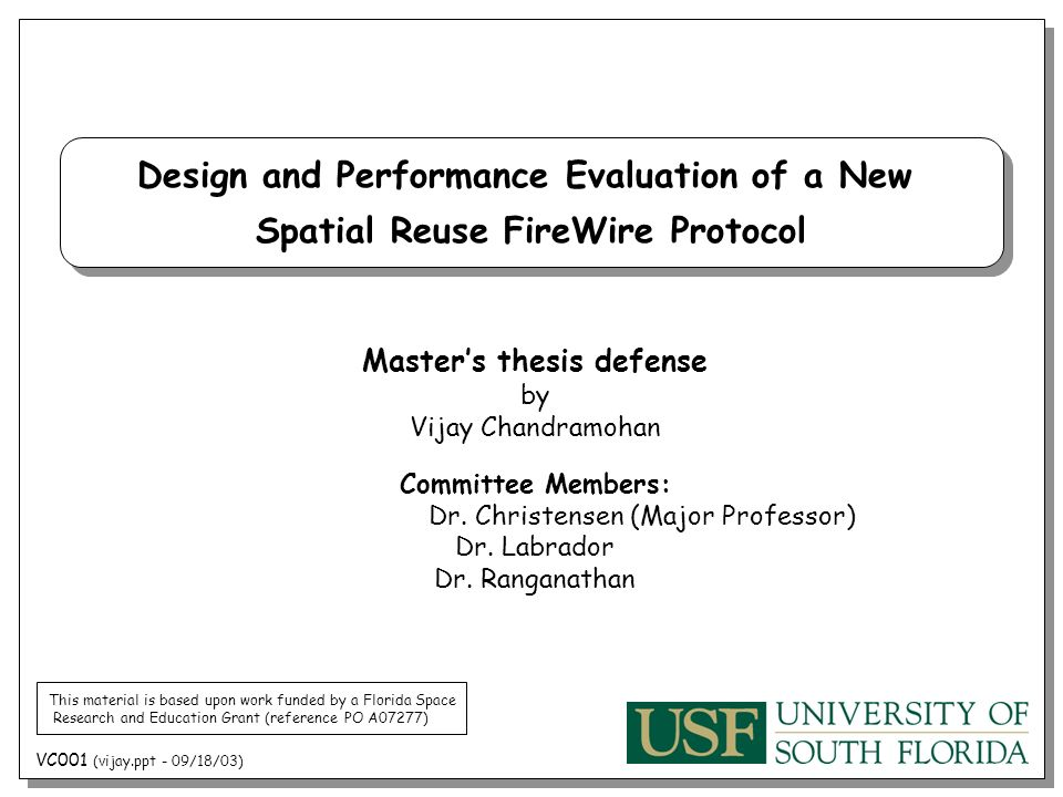 Dissertation Proposal Defense Powerpoint