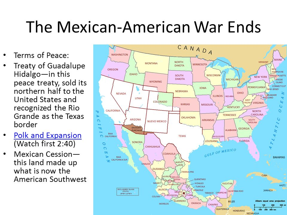Westward Expansion And The MexicanAmerican War Unit Lesson Ppt - Guadalupe hidalgo on us map