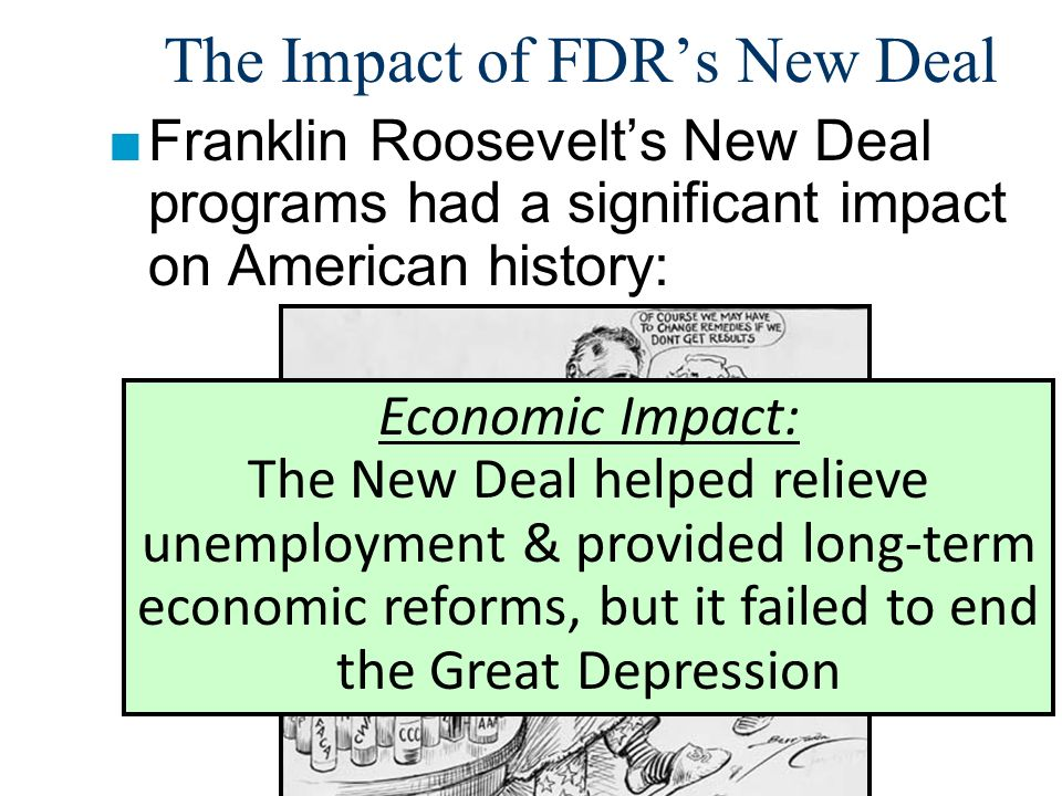 evaluating franklin roosevelts new deal program for relief and works project Until the new deal, blacks had shown their traditional loyalty to the party of abraham lincoln by voting overwhelmingly republican by the end of president franklin d roosevelt's first administration, however, one of the most dramatic voter shifts in american history had occurred.