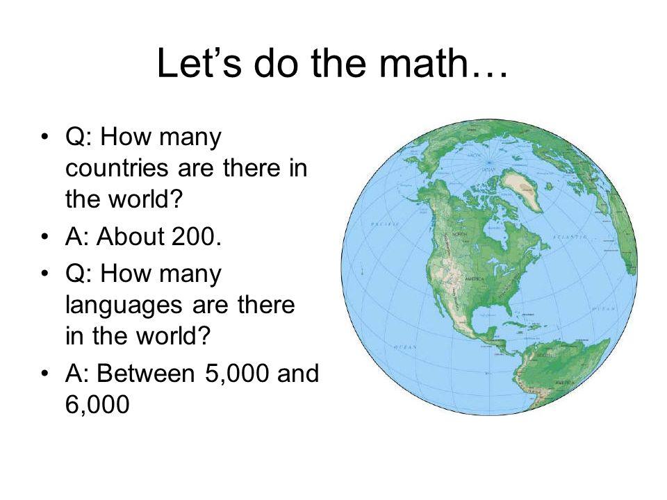Language Nationalism In Europe Chapter Nationalism Language - How many languages on earth