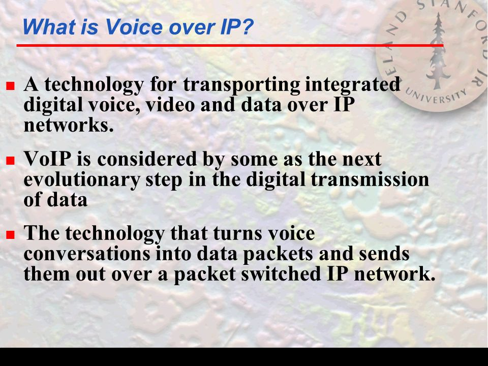 What is Voice over IP.
