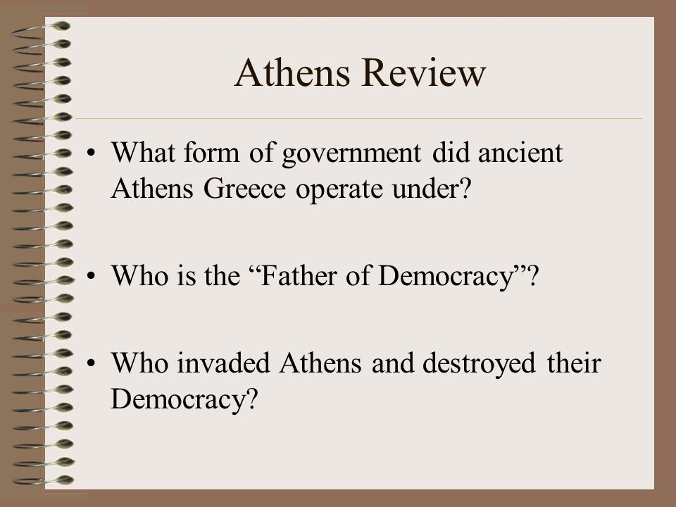 Ancient Greece. Athens Review What form of government did ancient ...