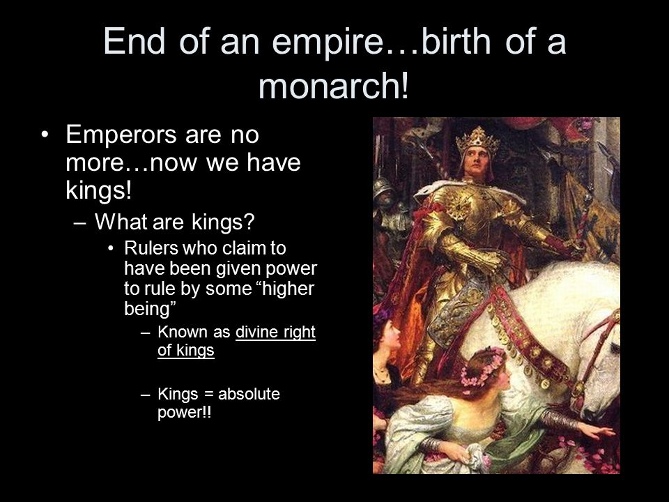 End of an empire…birth of a monarch. Emperors are no more…now we have kings.