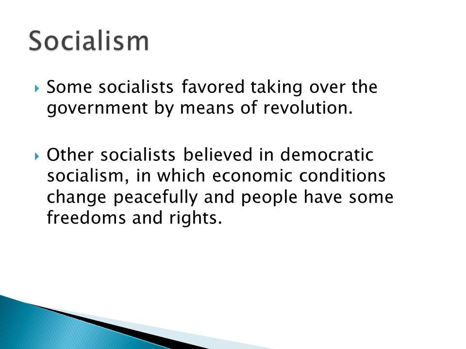  Some socialists favored taking over the government by means of revolution.
