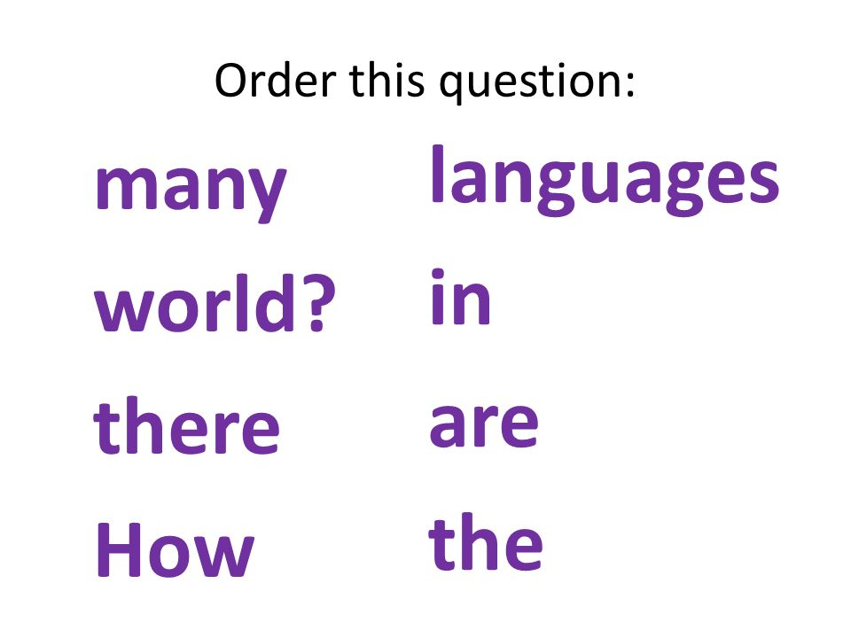 Order this question: many world there How languages in are the