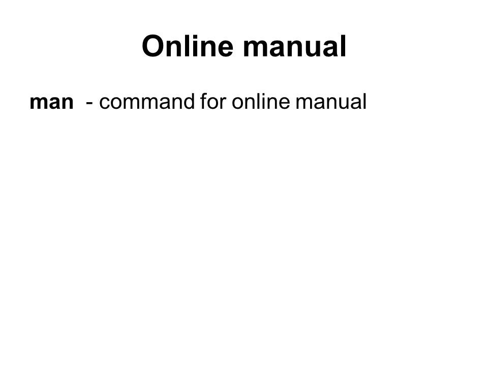 Online manual man - command for online manual