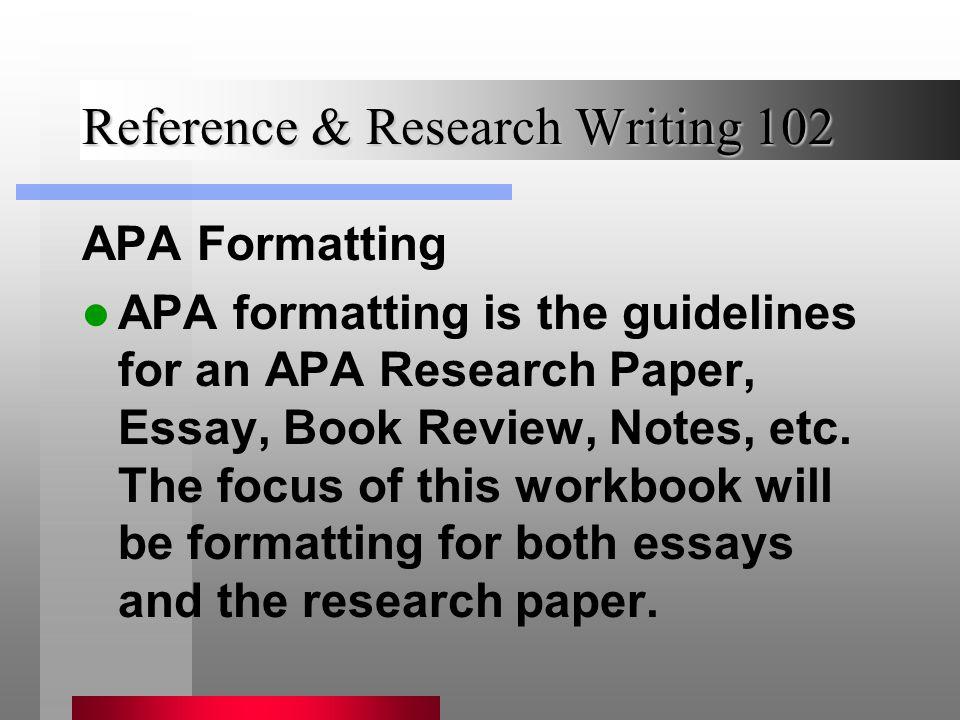 resurch essay