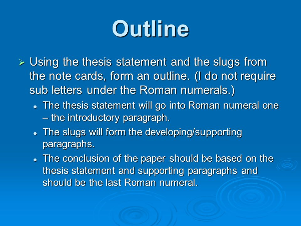thesis statement for outline