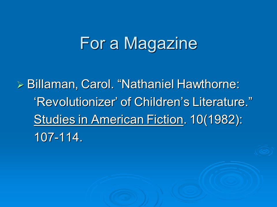nathaniel hawthorne research papers