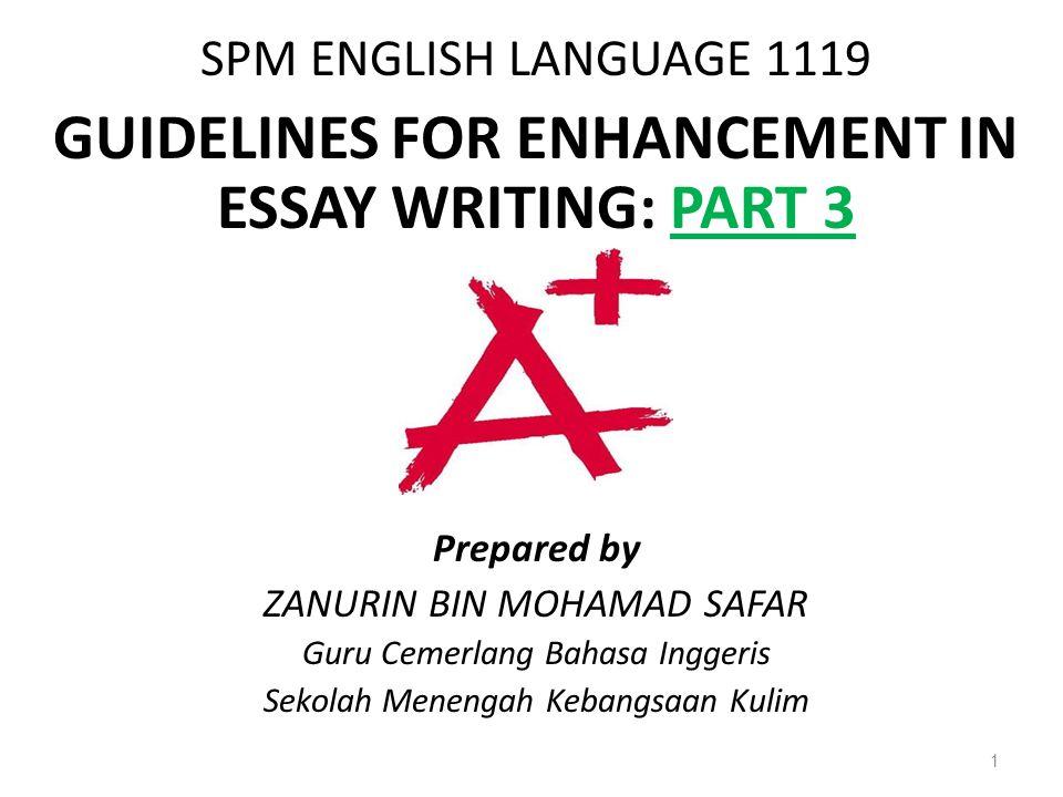 spm english languageguidelines for enhancement in essay